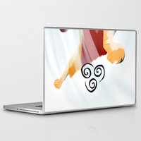 aang Laptop & iPad Skins featuring Avatar Aang II by daniel