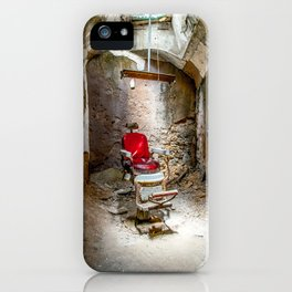 At the Barbershop iPhone Case