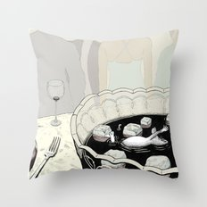 A Rat in a Punch Bowl Throw Pillow
