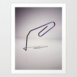 Paper Clip  Art Print