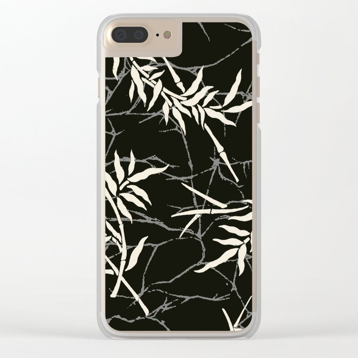 bamboo batik 4 Clear iPhone Case