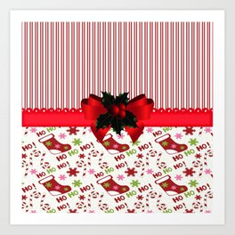 Chirstmas Stockings Art Print