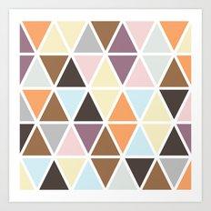 Geo Triangles Art Print
