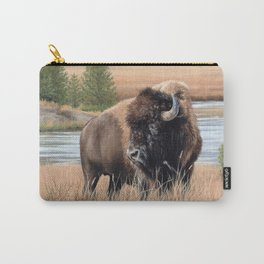 American Bison Painting Carry-All Pouch