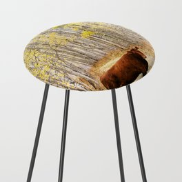 Cow in aspens Counter Stool