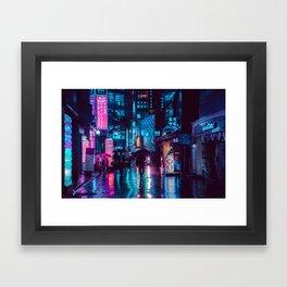 Myeongdong at night Framed Art Print