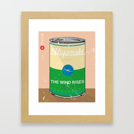 The wind rises- Miyazaki - Special Soup Series  Framed Art Print