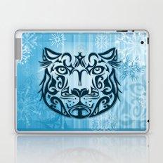 Tribal Graphic Design Illustration winter: Snow Leopard Laptop & iPad Skin
