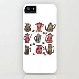 Coffee Pots iPhone Case