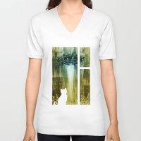 ufo V-neck T-shirts featuring UFO by Bakal Evgeny