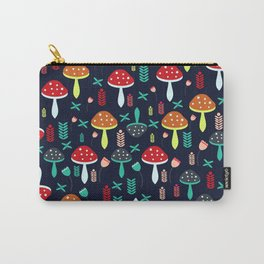 Multicolored mushrooms Carry-All Pouch