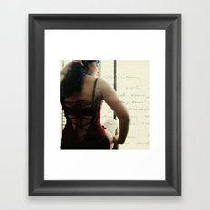 laced up Framed Art Print