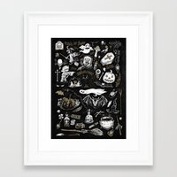 witchcraft Framed Art Prints featuring Witchcraft by pakowacz