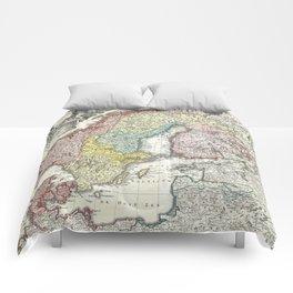 Vintage Map of Scandinavia (1730)  Comforters