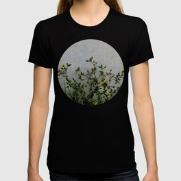 Minimal flora - yellow daisies wild flowers T-shirt