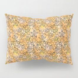 Flower Art - Peach Pillow Sham