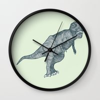 dino Wall Clocks featuring Dino by maeveelectro