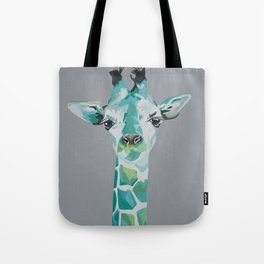Blue Giraffe Tote Bag
