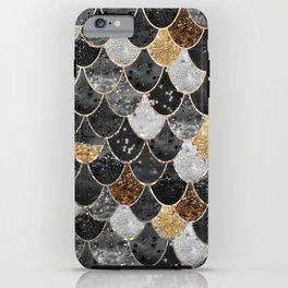 REALLY MERMAID BLACK GOLD iPhone Case
