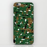 camo iPhone & iPod Skins featuring camo by Panic Junkie