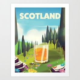 Scotland Travel poster Art Print