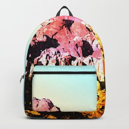 Gold and Pink Mountain Backpack