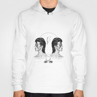 bowie Hoodies featuring Bowie  by Tate Eknaian