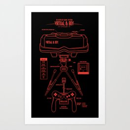 Virtual & Boy Art Print