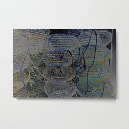 Blue earth shellfish Metal Print