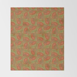 Meredith Paisley - Light Olive Green Throw Blanket