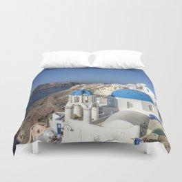 Oia, Santorini Duvet Cover