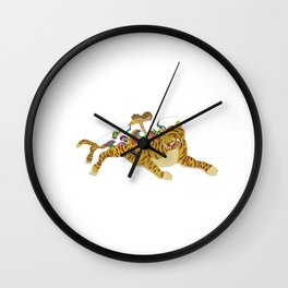 Korea style surf art series _ Ho-jak-do(Tiger and Magpie Paintings) Wall Clock