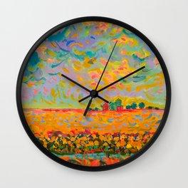 Indiana Flatlands Wall Clock