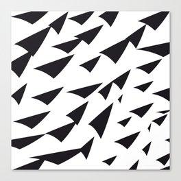 black soft arrows Canvas Print