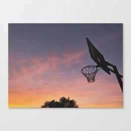 Basketball Sunset Canvas Print