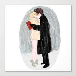 Bridget Jones Kiss Canvas Print