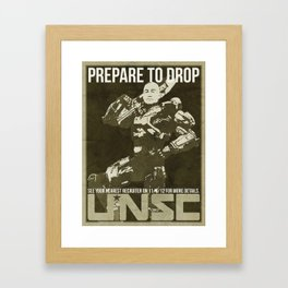 Halo 4 UNSC Old Fashioned Recruitment Poster Framed Art Print