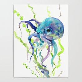 Underwater Scene Design, Octopus Poster