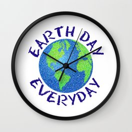 Colorful Earth Day Everyday Wall Clock