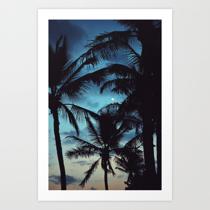 Honolulu Moon Art Print