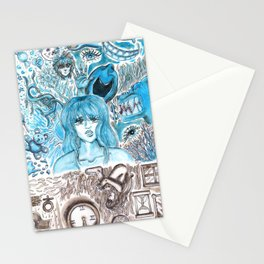 Doodles of Disturbing Thoughts Stationery Cards