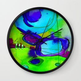 Magical Thinking No. 2L by Kathy Morton Stanion Wall Clock