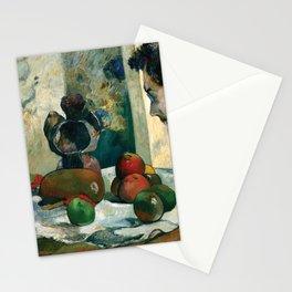 "Paul Gauguin - Still Life with Profile of Laval ""Nature morte au pofil de Laval"" (1886) Stationery Cards"