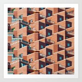 A Study of Balconies Art Print