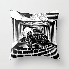 Cinema Girl Throw Pillow