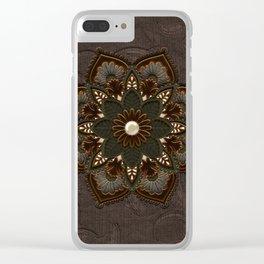 Steampunk, beautiful mandala Clear iPhone Case