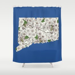 Connecticut in Flowers Shower Curtain