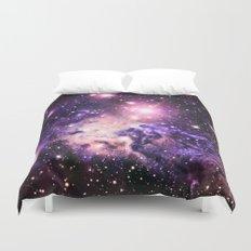 Fox Fur Nebula : Pink Purple Galaxy Duvet Cover