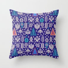Geometric Nature / Pattern Throw Pillow