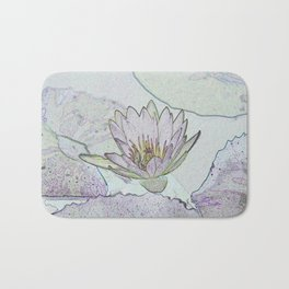 Waterlily Abstract Bath Mat